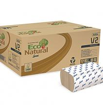 Paper towels EcoNatural V2 210x253mm 2-layers V-fold, natural