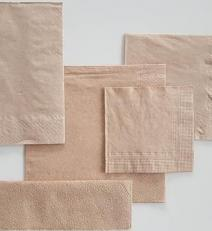 Tissue napkin natural brown_Servietten natur braun